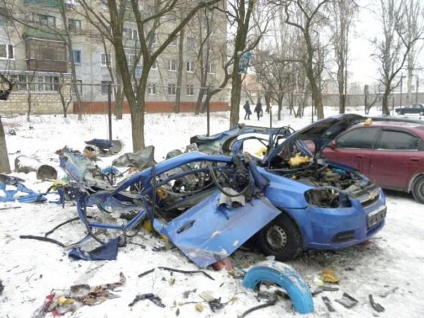 Взрыв ГБО в авто