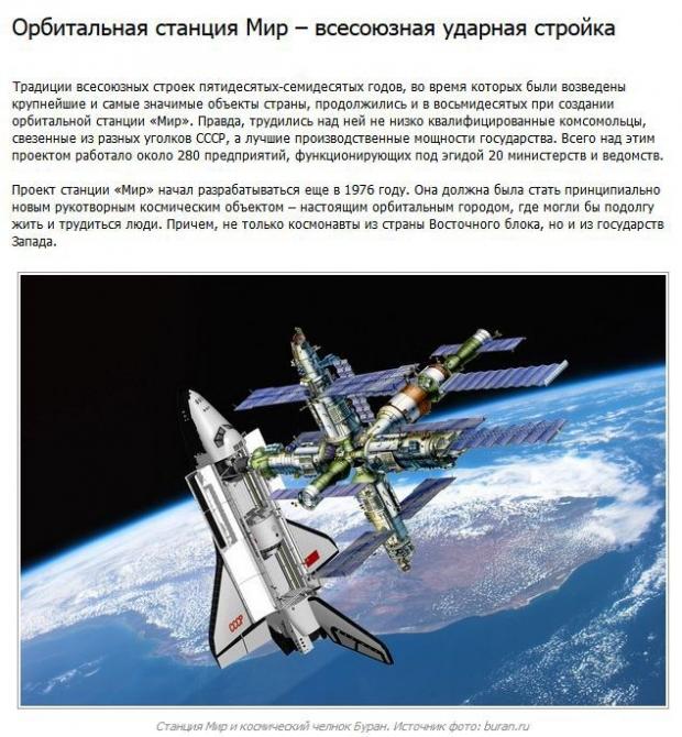 Интересные факты из истории орбитальной станции Мир